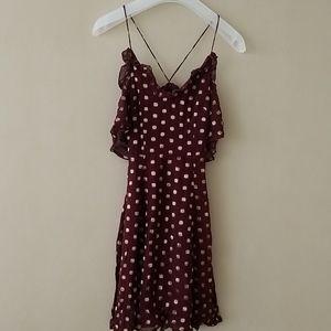 Topshop Burgundy Dress